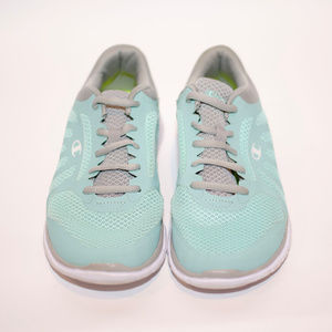 Teal and Grey Champion-brand Running Shoes